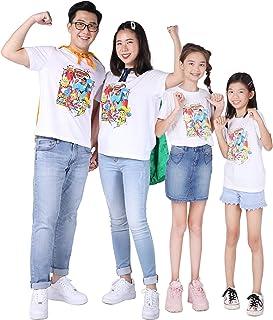 M.D.K Short Sleeves Super Hero Cartoon Graphic Print Family T-Shirt