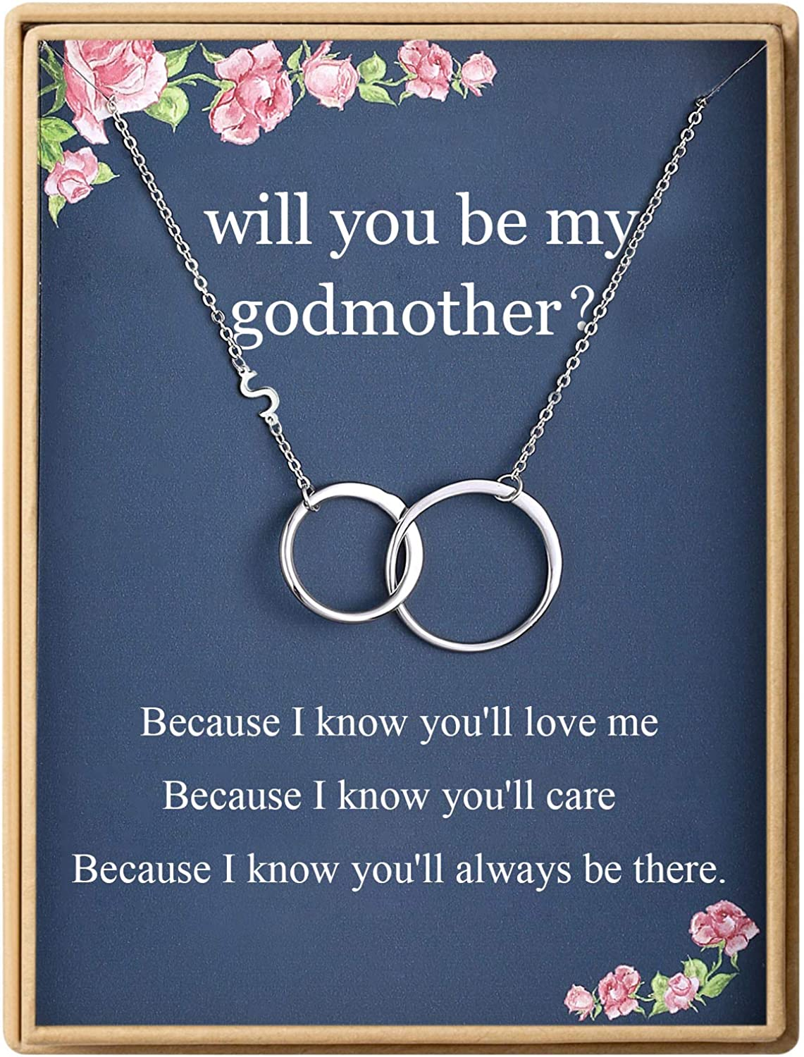 Godmother Necklace Initial Two Double Interlocking Circ Albuquerque Mall Infinity Colorado Springs Mall