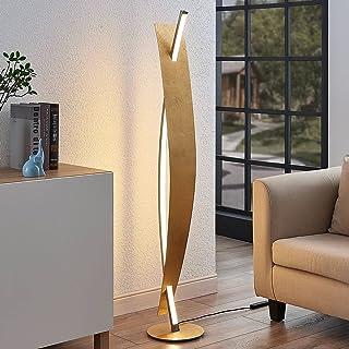 LED Lampadaire 'Marija' à intensité variable (Moderne) en Doré en Métal e. a. pour Salon & Salle à manger (A) de Lucande  ...
