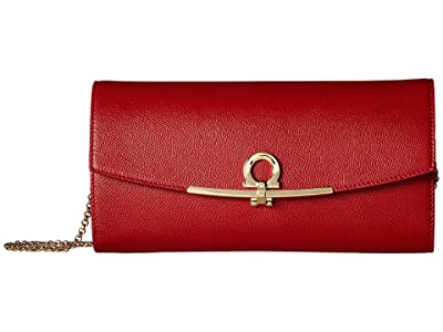 Salvatore Ferragamo Mini Gancini Bag (Lipstick) Clutch Handbags