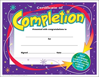 TREND enterprises, Inc. Certificate of Completion Colorful Classics Cert's, 30 ct