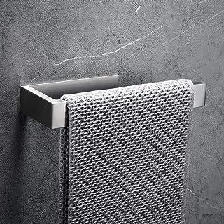 CCKOLE Porte-serviettes sans perçage en acier inoxydable 304 - Autocollant - Pour salle de bain - Argenté brossé - Sans pe...