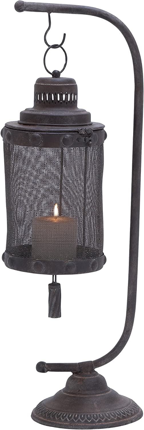 Deco 79 Metal Lantern, 28 by 8-Inch