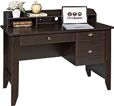 OneSpace Executive Desk with Hutch, Espresso