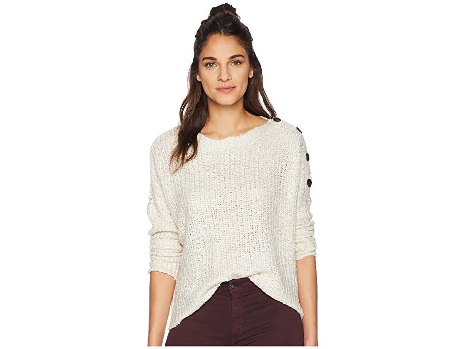 Jack by BB Dakota Level Up Buttoned Drop Shoulder Sweater (Oatmeal) Women