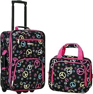Luggage 2 Piece Printed Luggage Set, Peace, Medium