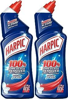 Harpic Toilet Cleaner Liquid Limescale Remover Original, 2 x 500