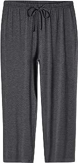 Women's Capri Pajamas Pants Bamboo Viscose Bottoms with Pockets