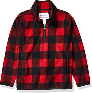 Amazon Essentials Boy's Quarter-Zip Polar Fleece Jacket