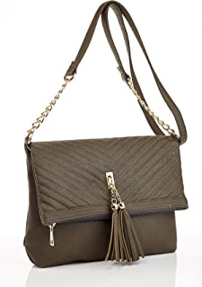 Ashley Blue Series Fashionable Designer Quilted Handbag with Extendable Crossbody Strap