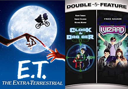 Henry Thomas Twofer-Bundle with Fred Savage in Second - Clock & Dagger, E. T.: The Extra Terrestrial and The Wizard 3-Movie Family Fun Collection