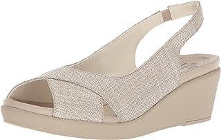 حذاء نسائي بكعب عريض من Crocs مطبوع عليه Leigh Ann Shimer Slngbck WDG W