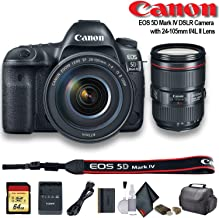 Canon EOS 5D Mark IV DSLR Camera with 24-105mm f/4L II Lens (1483C010) - Starter Bundle