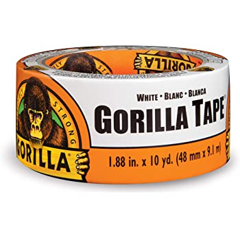 """Gorilla White Duct Tape, 1.88"""" x 10 yd, White, (Pack of 1)"""