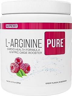 L-Arginine Pure ® | L-arginine Drink Mix Formula for Blood Pressure, Cholesterol, Heart Health, and More Energy (12.7 oz, 360g) (Raspberry, 1 Bottle)