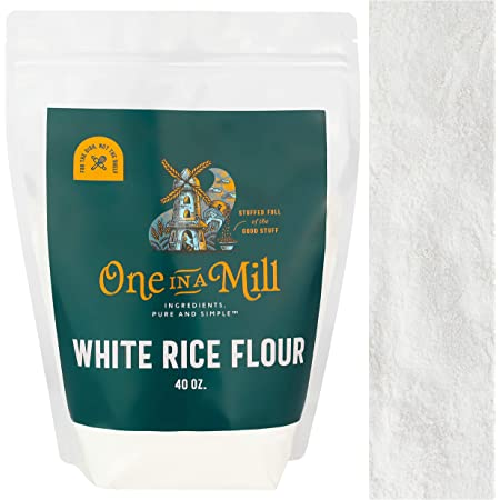 One in a Mill White Rice Flour 2.5lb Bulk Resealable Bag   Superfine Grain-Free Alternative For Baking and Cooking   Paleo, Vegan, Non-GMO, & Kosher Certified