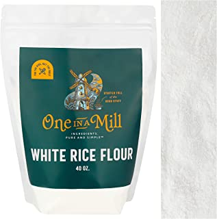 One in a Mill White Rice Flour 2.5lb Bulk Resealable Bag | Naturally Gluten-Free | Superfine Grain-Free Alternative For Ba...
