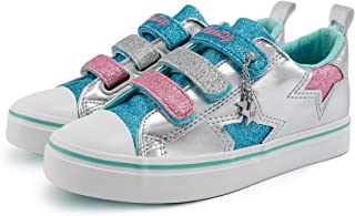 Weestep Toddler Little Kid Girls Low Top PU Star Sneaker