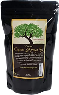 Global Moringa Tea - Original Organic Moringa Tea (30 Tea Bags) Ghana Grown, American Seller