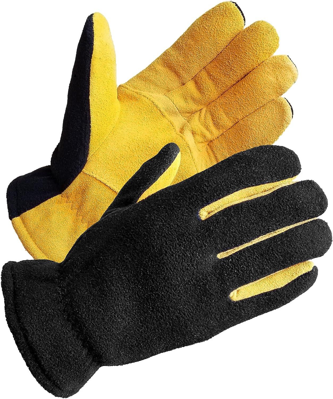 SKYDEER Men's Winter Gloves with Suede low-pricing Max 71% OFF Deerskin Genuine Premium