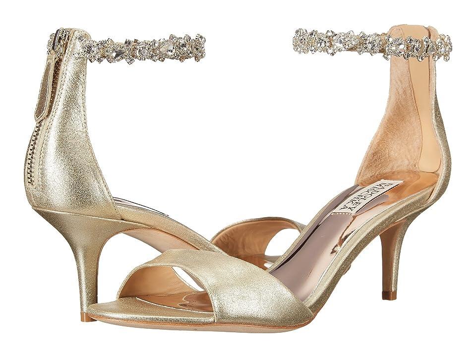 Badgley Mischka Geranium (Platino Metallic Suede) High Heels