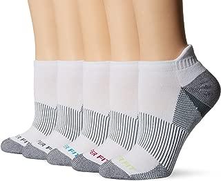 Copper Fit Women's Performance Sport Cushion Low Cut Ankle Socks w/ Heel Guard (5