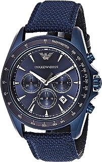 Emporio Armani Sigma Men'S Blue Dial Nylon Band Watch Ar6132, Quartz, Analog