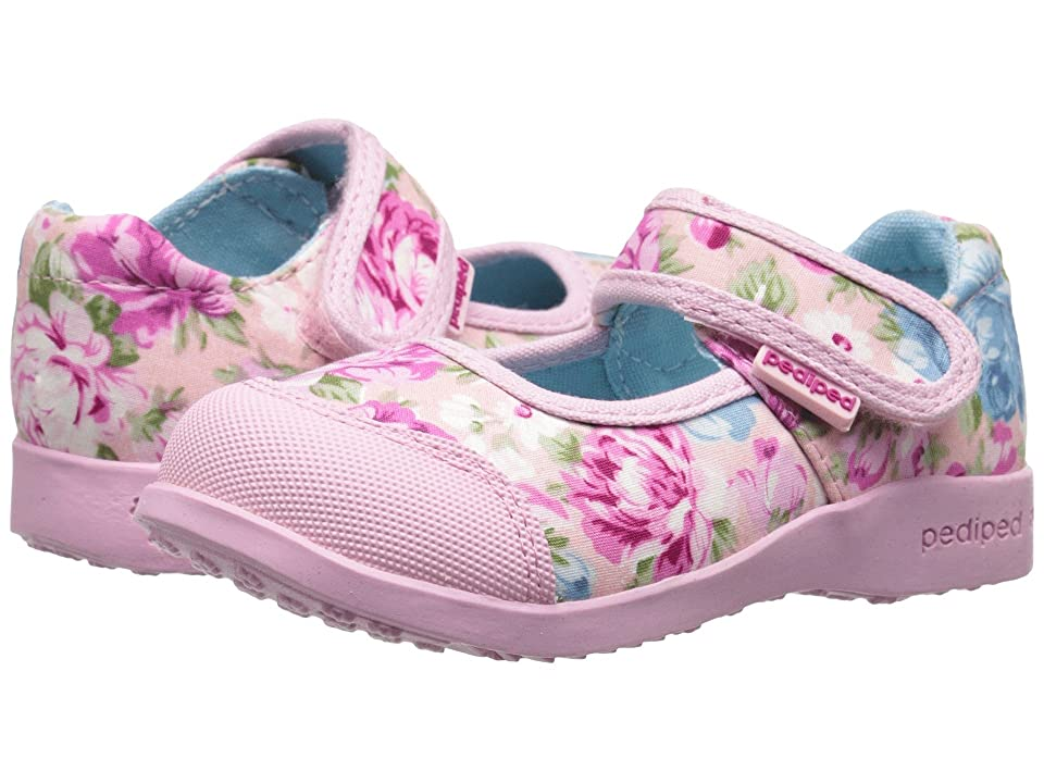 pediped Bree Flex (Toddler/Little Kid) (Pink Floral) Girl