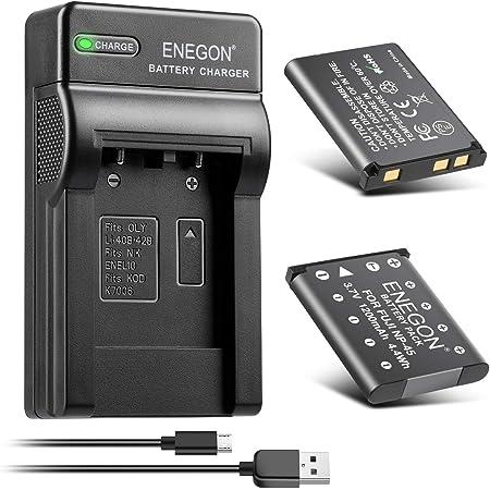 Enegon Ersatzbatterie Und Rapid Dual Ladegerät Für Kamera