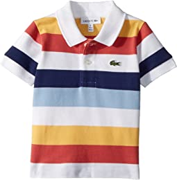 Lacoste Kids - Short Sleeve Multicolor Striped Pique Polo (Infant/Toddler/Little Kids/Big Kids)