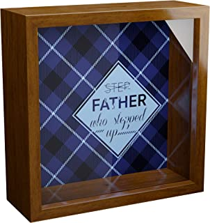 Stepdad Gifts | 6x6x2 Memorabilia Shadow Box | Great Decorative Picture Frame for Step Fathers Idea from Daughter or Son |...