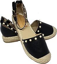 VICTORIA ADAMES Khloe Espadrilles Shoes Black Size 10