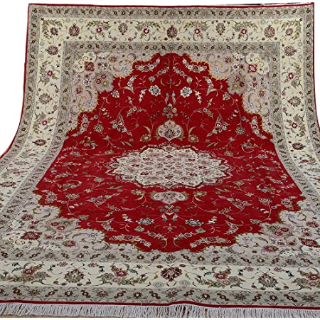 Old Hand Made Blue Wool Nain Parsian Style Wool Area Rug /& Carpet