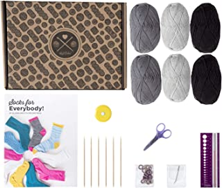 Learn to Knit Premium Beginner Knitting Kit - Socks (Monochr