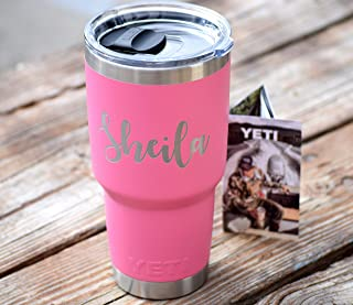 Yeti with Magslider Slider Lid Additional Colors Available - Personalized Yeti Tumbler - Engraved Yeti Rambler - 20 oz Yeti - 30 oz Yeti - Personalized Yeti - Yeti Gift - Laser Engraved Yeti