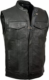 LEATHER KING MOTORCYCLE CLUB VEST ZIPPER AND SNAPS 1