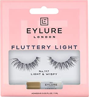 Eylure Texture False Lash, Style No. 117, Reusable, Adhesive Included, 1 Pair