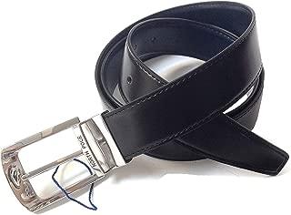 in elastico tinta unita e pelle vari colori NORTH POLE cintura intrecciata NP2050 da uomo in confezione regalo