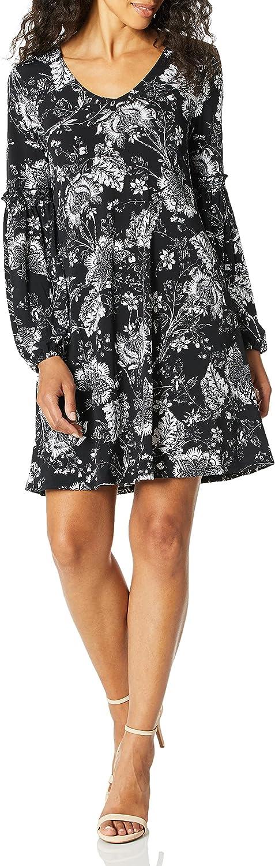 Karen Kane Women's Smocked Sleeve Dress