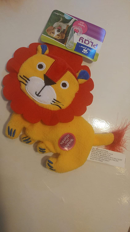 Lion Felt & Fleece Squeaky Dog Toy