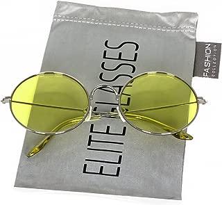 John Lennon Glasses Round Circle Full Metal Frame Sunglasses for Women and Men Colorful Tinted Oceanic Lens