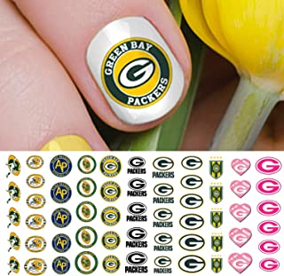 Green Bay Packers Football Waterslide Nail Art Decals - Salon Quality