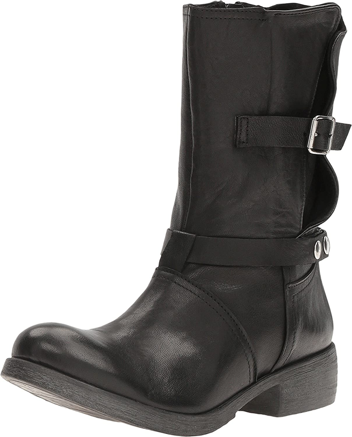 Massimo Matteo Womens Biker Boot with Buckle