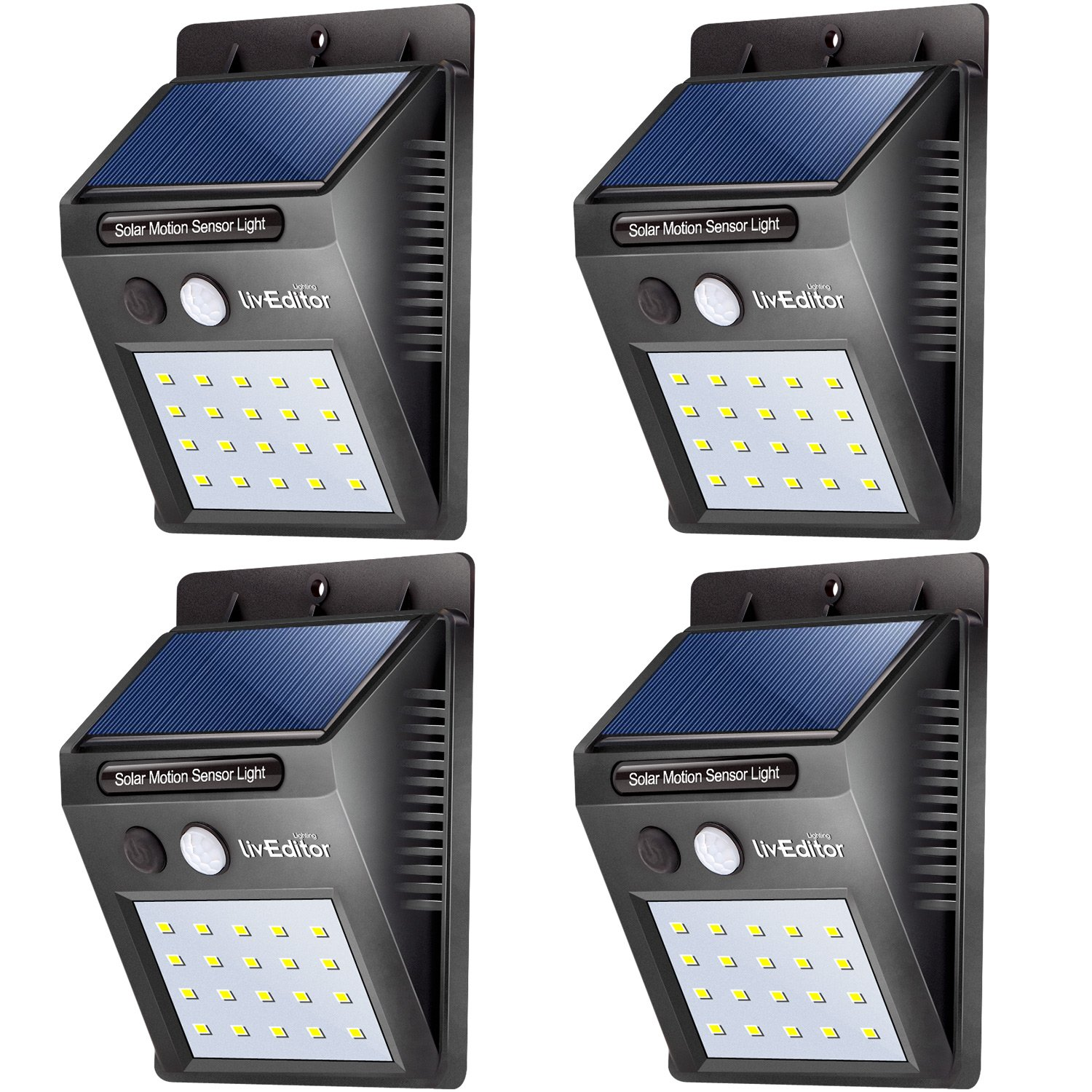 20-LED Solar Powered Spot Lights Outdoor Garden Security Pathway Lawn Wall Lamps