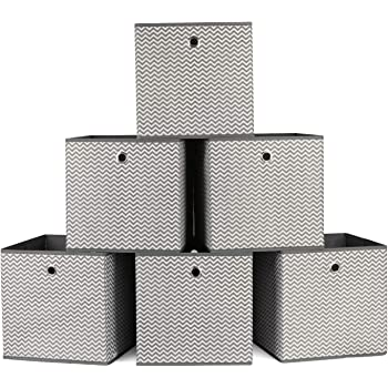 Homfa 6 Stuck Aufbewahrungsbox Ordnungsbox Faltbox Stoff Faltbar Fur Schubladen Grau Weiss Set Amazon De Kuche Haushalt