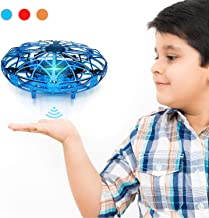 $26 » Hand Operated Drones for Kids & Adults, Balhvit Super Fun & Easy Hands Free Mini Drone Helicopter (2 Speed & LED Light), Indoor Flying Ball Toys Gifts for 6 7 8 9 10 Years Old Boys & Girls - Blue