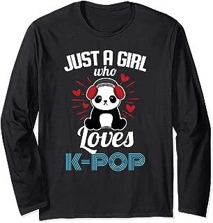South Korea Inspired Girl who Loves K-Pop Panda Long Sleeve T-Shirt