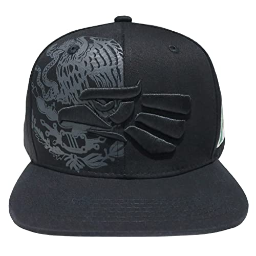 570595085aace Leader of Generation Hecho En Mexico Mexican Flag States Eagle Flatbill  Snapback Hat