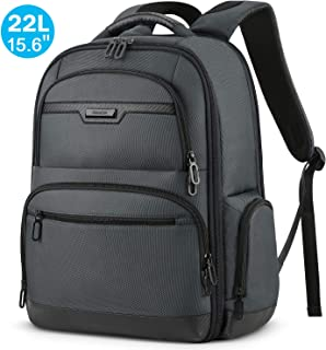 SHIELDON Laptop Backpack, 19L Business Travel Anti Theft Backpack Fits 15.6 Inch Laptop/Notebook Carry-on Durable Laptop Daypack Water Resistant College School Computer Bag for Women and Men - Grey