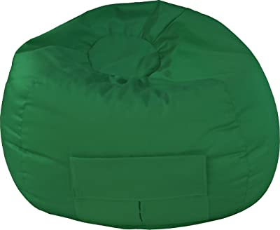 Gold Medal Bean Bags Medium Denim Beanbag, Tween Size, Green